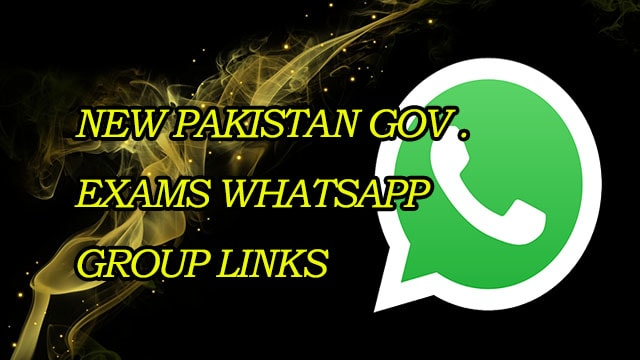 New Pakistan Gov Exams WhatsApp Group Links 2018 MERA ONLINE